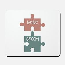 Bride Groom Mousepad