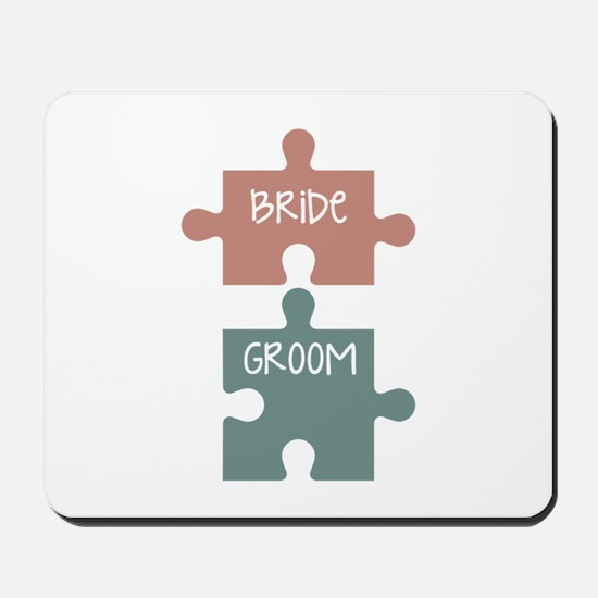 Bride Groom Mousepad