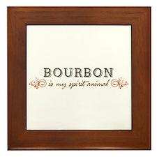 Bourbon Is My Spirit Animal Framed Tile
