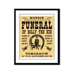 Billy's Funeral Framed Panel Print