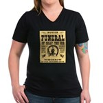 Billy's Funeral Women's V-Neck Dark T-Shirt