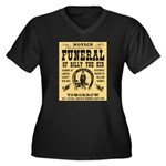 Billy's Funeral Women's Plus Size V-Neck Dark T-Sh
