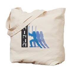 Ninja Shadow Design Tote Bag