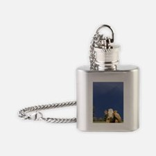Cow near Fox Glacier, West Coast, S Flask Necklace
