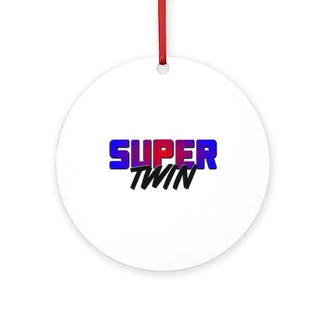 SUPER TWIN Ornament (Round)