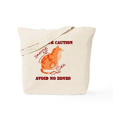 Orange Tabby No Zones Tote Bag