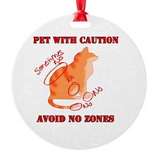 Orange Tabby No Zones Ornament