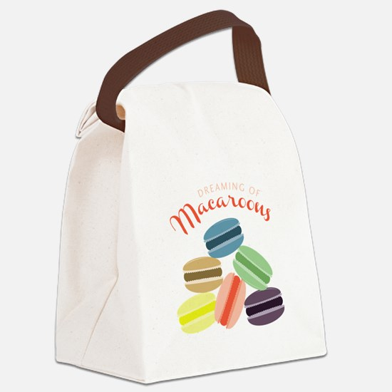 Dreaming of Macaroons Canvas Lunch Bag