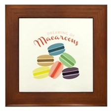 Dreaming of Macaroons Framed Tile