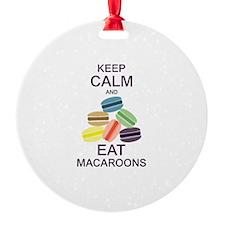 Keep Calm Eat Macaroons Ornament