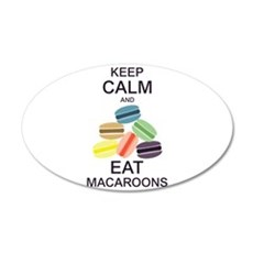 Keep Calm Eat Macaroons Wall Decal