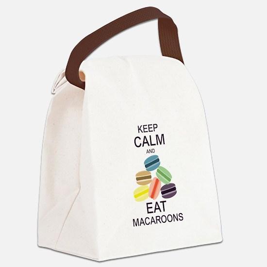 Keep Calm Eat Macaroons Canvas Lunch Bag