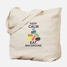 Keep Calm Eat Macaroons Tote Bag