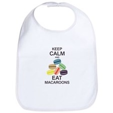 Keep Calm Eat Macaroons Bib