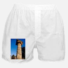 Ancient Olympia. Historic stone colum Boxer Shorts