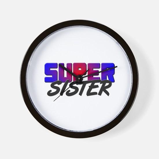 SUPER SISTER Wall Clock
