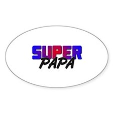 SUPER PAPA Oval Decal