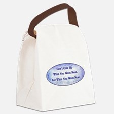 DON'T GIVE UP... Canvas Lunch Bag