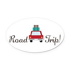 Road Trip Oval Car Magnet