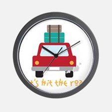 Lets hit the road Wall Clock