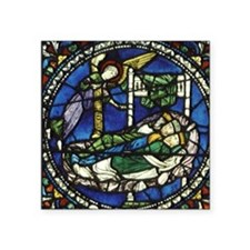 """Stained glass window. Magi  Square Sticker 3"""" x 3"""""""