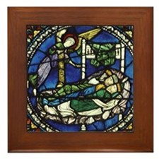Stained glass window. Magi and the Ang Framed Tile