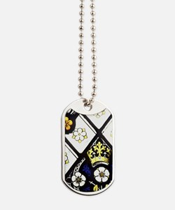 Gloucester Cathedral. Stained glass windo Dog Tags