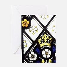 Gloucester Cathedral. Stained glass  Greeting Card