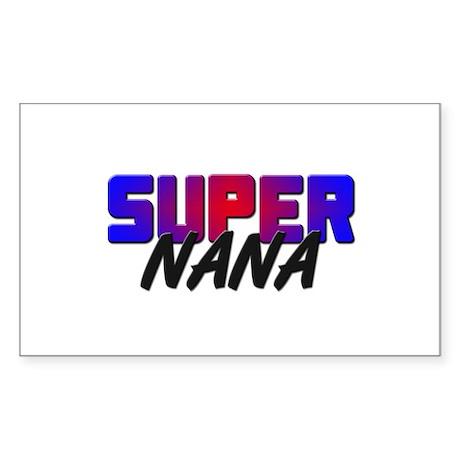 SUPER NANA Rectangle Sticker