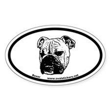 Boxer Dog Breed Oval Decal