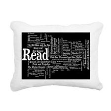 READ!  100 Best Books Rectangular Canvas Pillow