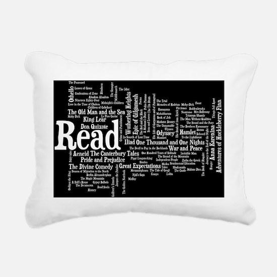READ!  100 Best Books Rectangular Canvas Pillow