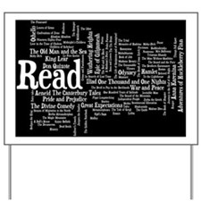 READ!  100 Best Books Yard Sign