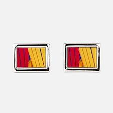 Bridgewater. Colorful adiron Rectangular Cufflinks