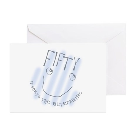 50th birthday saying Greeting Cards (Pk of 10)