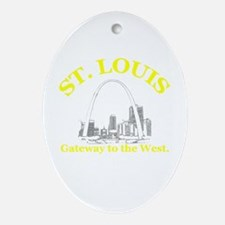 St. Louis . . . Gateway to th Oval Ornament