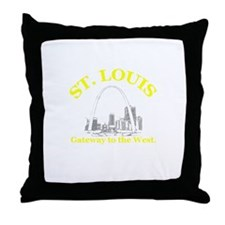 St. Louis . . . Gateway to th Throw Pillow
