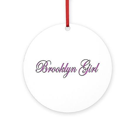 Brooklyn Girl Ornament (Round)