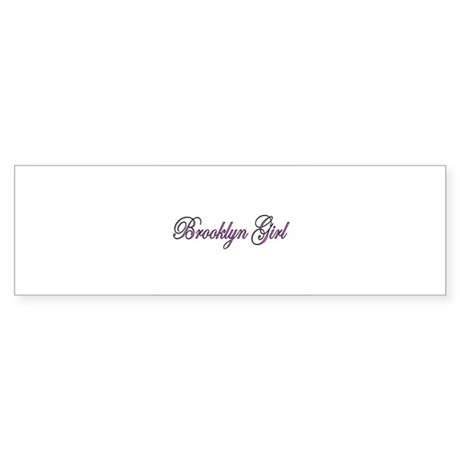 Brooklyn Girl Bumper Sticker