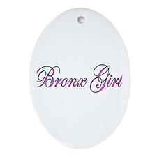 Bronx Girl Oval Ornament