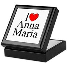 """I Love Anna Maria"" Keepsake Box"