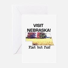 Visit Nebraska . . . Flat But Greeting Cards (Pack