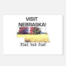 Visit Nebraska . . . Flat But Postcards (Package o