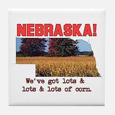 Nebraska . . . We've Got Lots Tile Coaster