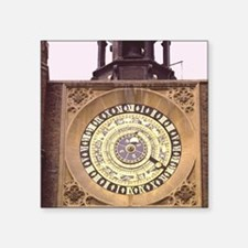 "Hampton Court Palace Clock, Square Sticker 3"" x 3"""