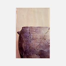 Prehistoric. Stoneage pot, Windmi Rectangle Magnet
