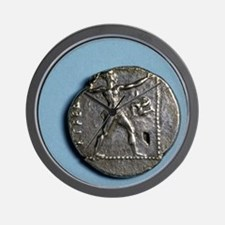 Greece. Slinger. Greek. Coin of Pamphyl Wall Clock