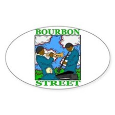 Bourbon Street Oval Decal