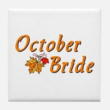 October Bride (2) Tile Coaster
