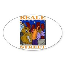 Beale Street Oval Decal